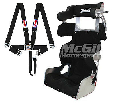 """Ultra Shield Adult Race Seat + Black Cover Size 14"""" 15"""" 16"""" 17"""" + HARNESS Brisca"""