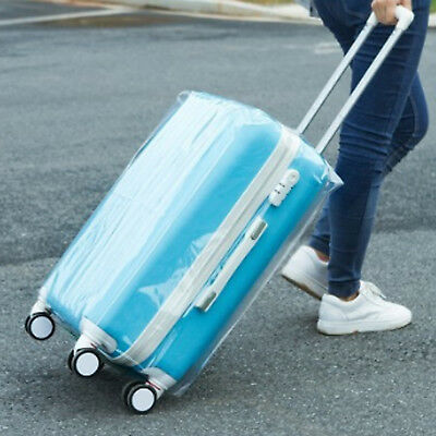 Plastic Travel Luggage Suitcase Cover Protector Scratch Dustproof Bag 20 24 28