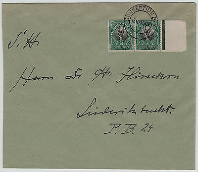 SWA 1929 vf COVER FROM CONCEPTION BAY TO LUDERITZBUCHT, V.SCARCE cds
