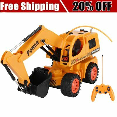 Remote Control Tractor RC Electric Construction Excavator Full Functional T  LN