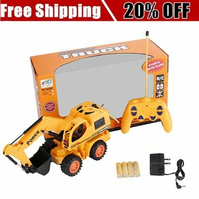 RC Excavator Remote Control Construction Tractor Vehicle Truck Toy Digger RC  LN