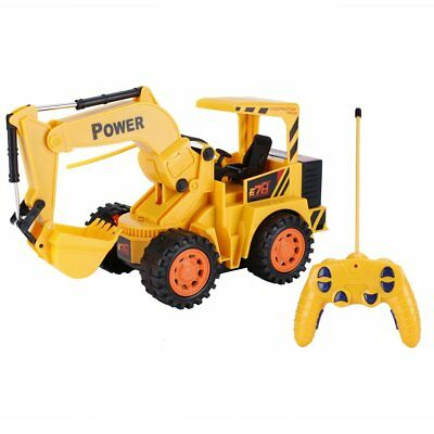 5Ch 4 Wheels RC Excavator Simulation Tractors Engineering Vehicles Digger   LN