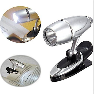 New Adjustable Clip On Book Reading Spot Light Lamp Portable Travel LED