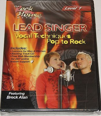 Lead Singer Vocal Techniques Pop to Rock Level 1 The Rock House Method DVD NEU