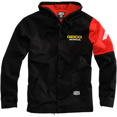 100% Geico Honda Racing Team Flux Jacke NEU Windbreaker Freizeit MX Enduro Cross