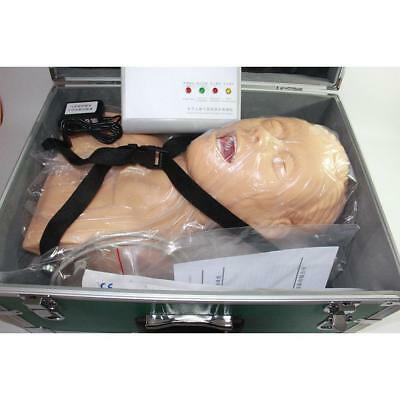 Pro 220V Intubation Manikin Study Teaching Model Airway Management Trainer PVC