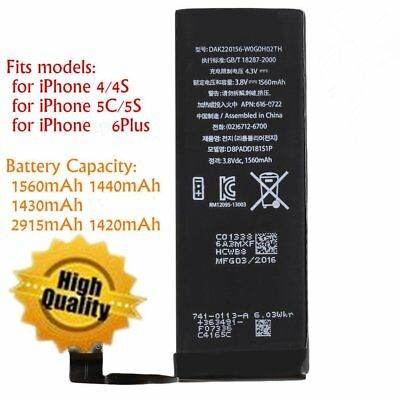 1560mAh Li-ion Battery Replacement with Cable for iPhone 4/5S/5C/6plus LOT MU