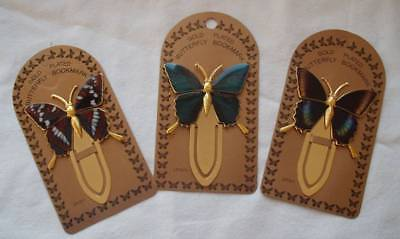 Gold Butterfly Bookmarks.Metal Gift. Red Admiral,Green,Tortoiseshell.