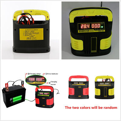 Professional 8019 14A LCD Battery Charger Jump Starter Booster For Car Motorbike