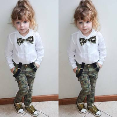 Fashion Kids Baby Girl Clothes Outfit T-shirt Tops Long Leggings Pants 2Pcs Set