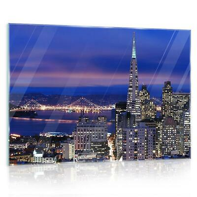Glasbild Echtglas Wandbild Glass F12183 San Francisco