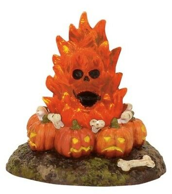 Dept 56 SV Halloween Flaming Skull Bonefire #4057628 BRAND NEW Free Shipping