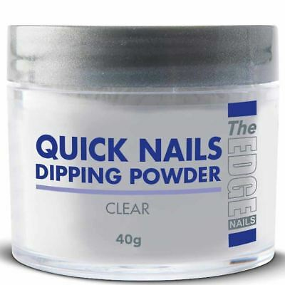 THE EDGE NAIL QUICK DIP FRENCH ACRYLIC DIPPING POWDER CLEAR 40g SALON SIZE!