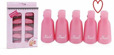 Reusable keeper 10 pcs soak remover tool plastic nail art polish