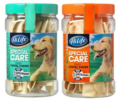 HiLife Special Care DAILY DENTAL CHEWS Original Spearmint Dog Rawhide Treats 12s