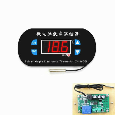 AC 220V  Red LED Digital Thermostat Temperature Alarm Controller Meter Module