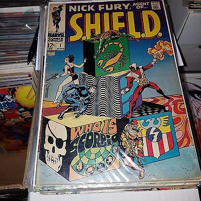 Nick Fury Agent of SHIELD (1968) Lot, Complete Series Set w/#s 1-18, Steranko