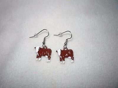 Hereford Cow Earrings