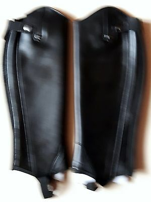 Dublin Dare to be Intensity Gaiters Black Leather Adult Small BNIB