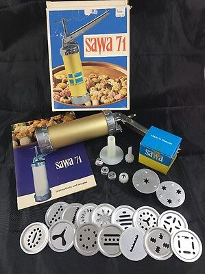 Cookie Press Sawa 71 With Recipes Sweden