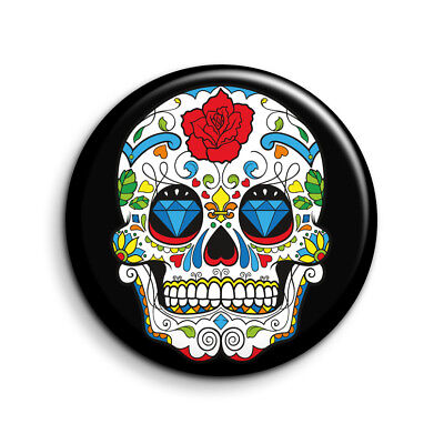 MEXICAN SUGAR SKULL DEAD GIRL FREE POST DAY OF THE DEAD 25mm Button Badge