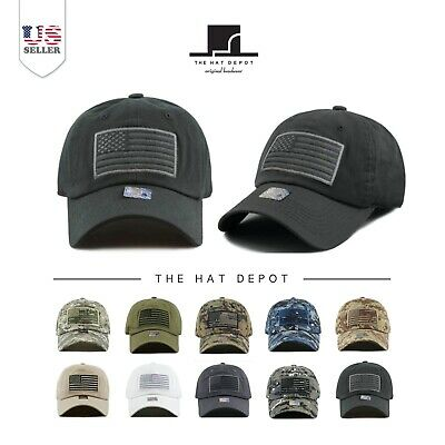 THE HAT DEPOT Low Profile Tactical Operator USA Flag Buckle Cotton ... 719668e3664a