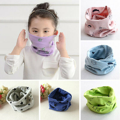 Kids Baby Girls Boys Ring Scarf Bibs Scarves Stars Fish Shawl Neckerchief Shawl