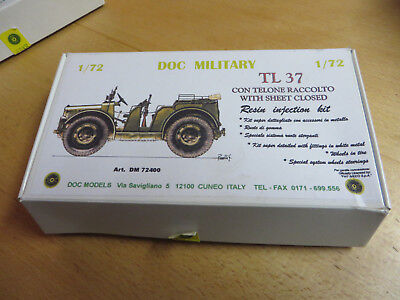 ~*~DOC MILITARY - TL37 with Sheet Closed - Resin 1/72~*~