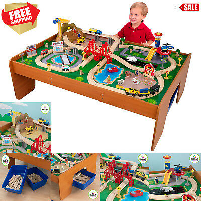 KidKraft 100-Piece Wooden Train Table Set Thomas u0026 Friends Railway Track Kids  sc 1 st  PicClick & KIDKRAFT 100-PIECE Wooden Train Table Set Thomas u0026 Friends Railway ...