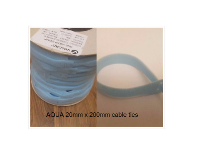 Genuine Velcro® Brand One-Wrap Re-Usable Hook & Loop Strapping Cable Ties Aqua