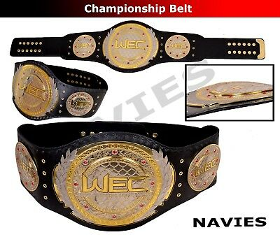 """UFC WEC Championship Extreme Cage Fight Replica Belt Real Leather Adult 50"""" New"""