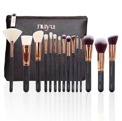 15 PCS NUYU Makeup Brush Set like ZOEVA+ Zipper Bag  FREE100% Genuine