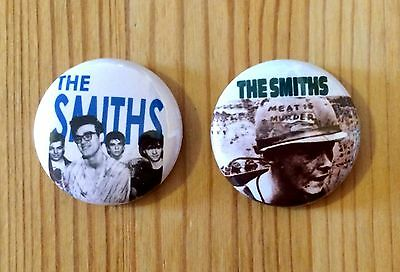 THE SMITHS (BAND) / MORRISSEY - SET OF 2 BUTTON PIN BADGES (25mm)