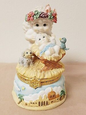 Dreamsicles CHERUB IN MANGER #10456 Figurine, Trinket Box ~ Cherub with Baby