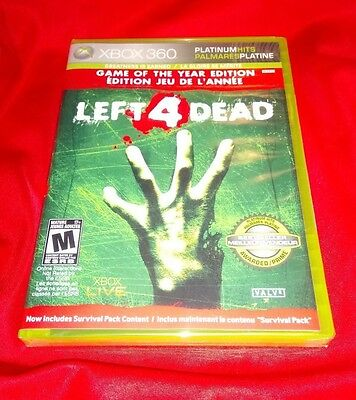 NEW SEALED LOW PRICE Left 4 Dead XBOX 360 Game of the Year Left 4 Dead X360 GOTY