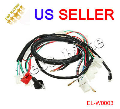 ELECTRIC WIRING HARNESS For Chinese ATV UTV Quad 4 Wheeler 50cc 70cc on chinese atv fuel line, chinese atv fuel tank, tao tao atv wiring harness, chinese gy6 150cc engine, chinese atv intake manifold, chinese atv fuel pump, chinese cdi wiring, chinese dirt bike parts, chinese atv engine diagram, chinese atv voltage regulator, chinese atv instrument cluster, chinese go kart ignition switch for, chinese atv fenders, 50cc atv wiring harness, chinese 200 atv wiring diagrams, chinese atv tail light, chinese atv oil cooler, chinese atv replacement parts, chinese four wheeler body parts,