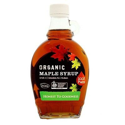 250ml Organic Grade A Canadian Maple Syrup - Honest To Goodness - Canada Origin