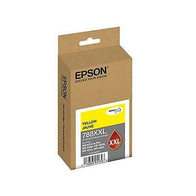 Epson 788XXL DURABrite Ultra Extra High Capacity Yellow Ink Cartridge, 4000 Yiel