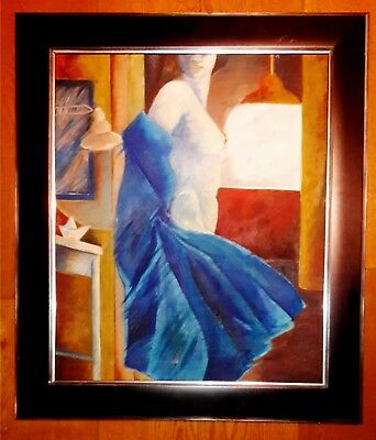 """FRANCISCO CORZAS 29"""" x 25"""" OIL ON CANVAS SIGNED PAINTING"""