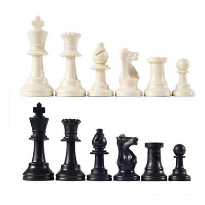 32pcs/Lot Plastic Chess Pieces Plastic International Chess Chessmen Game Gift