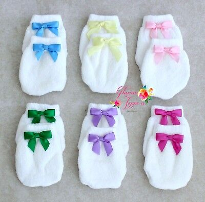 Newborn Boy Girl Infant Cotton Handguard Scratch Gloves New Mittens X6J3