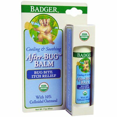 Badger After Bug Balm / Bite Itch Relief Stick Natural 100% Certified Organic
