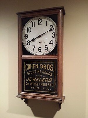 New Haven Advertising Wall Clock Cohen Bros York Pa. Sporting Goods & Jewelry