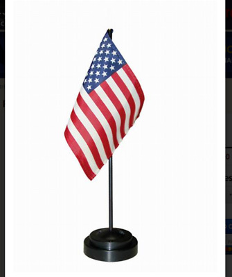 USA American US Desk Top Desk Flag with stand 8'' x 6'', NEW!