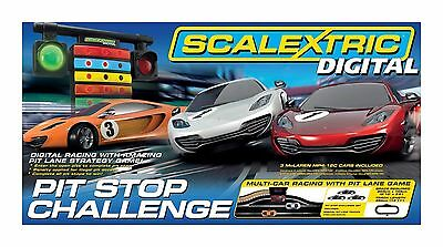 C1296 Scalextric Set Digital Pit Stop Challenge 3 cars lowest best price UK