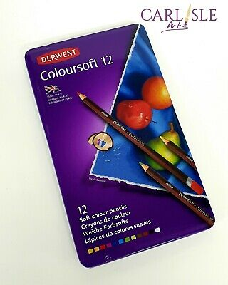 Derwent Coloured Pencils Coloursoft, 12 Pack