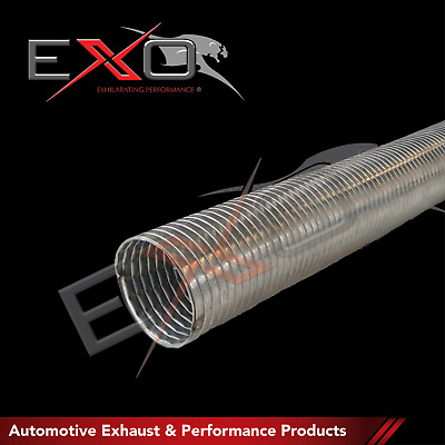 """Stainless Steel Exhaust Flex Tube 2.5"""" I/D (63.5mm) 1 Metre Section"""