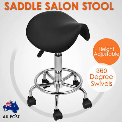 Saddle Salon Stool Rolling Chair Adjustable Swivel Massage Spa Seat Hydraulic