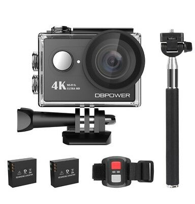 NEW DBPOWER 4K Action Camera WIFI Sports Action Video Camera 170 Degree Wide