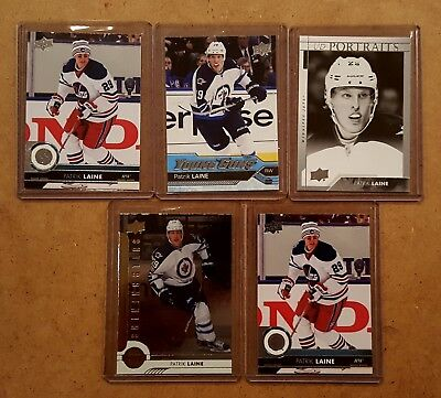 Lot of Patrik Laine cards. Includes16-17 Series Two Young Guns: Book Value $150